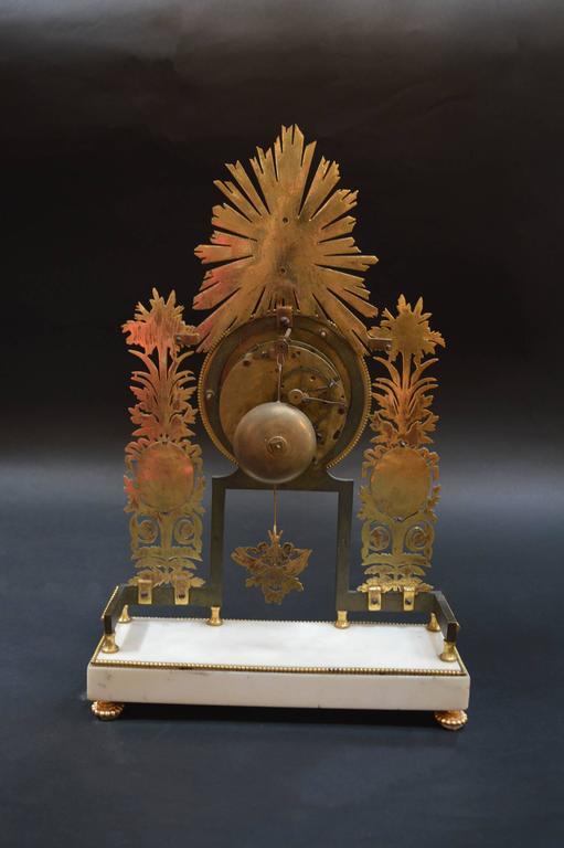 Bronze 19th Century Sunburst Clock For Sale