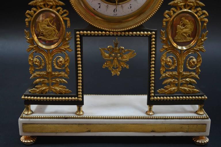 19th Century Sunburst Clock In Good Condition For Sale In Los Angeles, CA