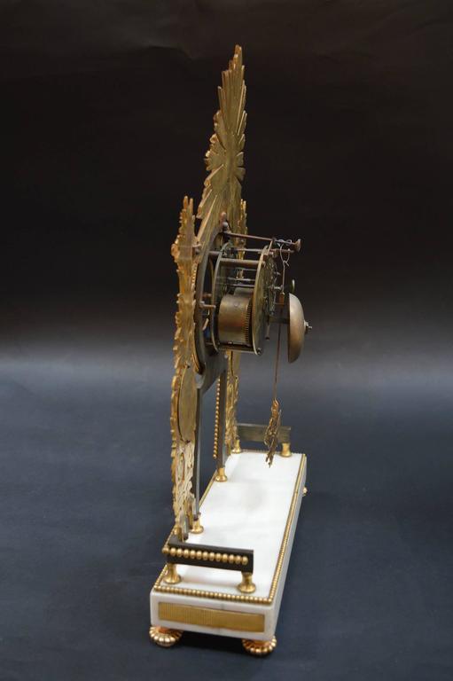 19th Century Sunburst Clock For Sale 1