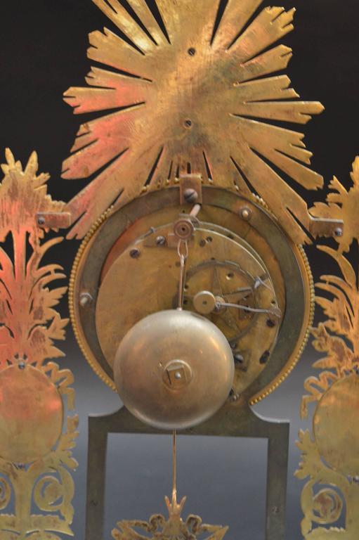19th Century Sunburst Clock For Sale 2