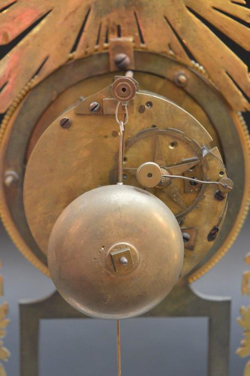 19th Century Sunburst Clock For Sale 3