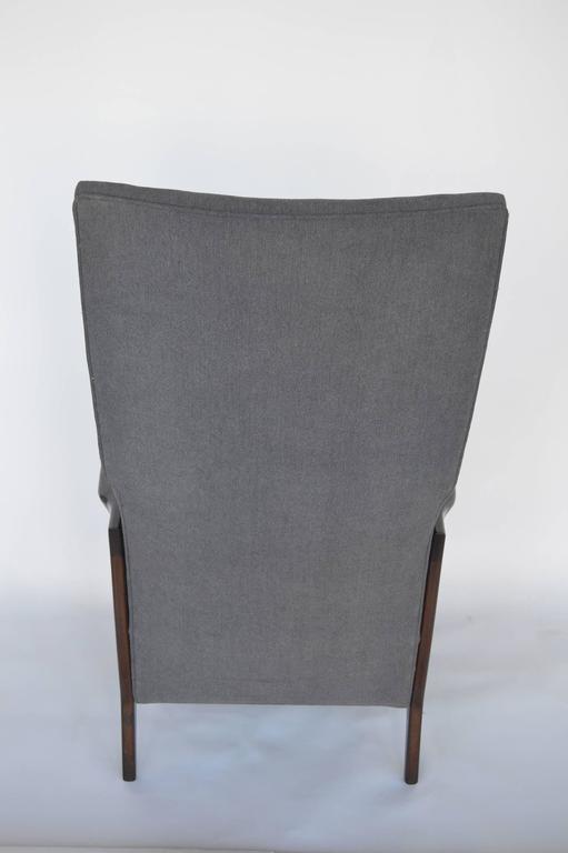 Walnut Pair of Italian Armchairs For Sale