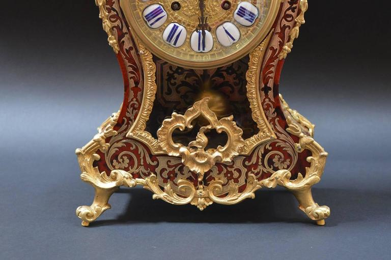 Italian French Boulle Clock For Sale