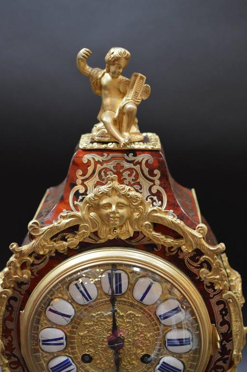 Gilt French Boulle Clock For Sale