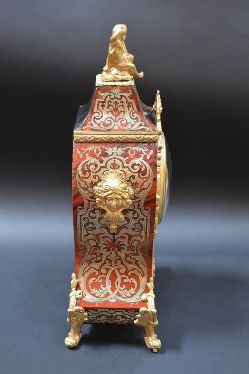 19th Century French Boulle Clock For Sale