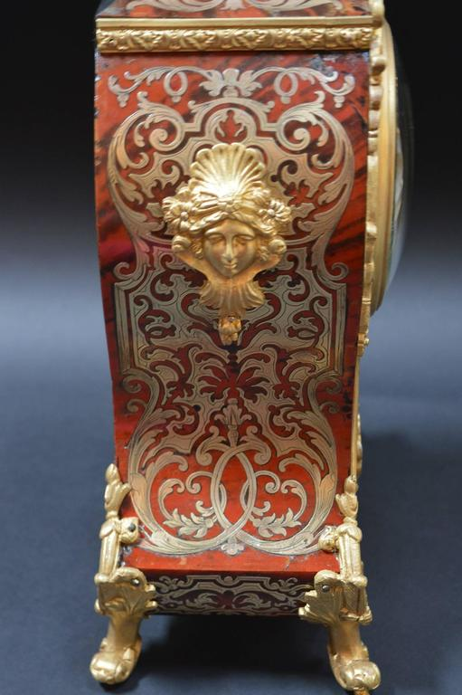 Tortoise Shell French Boulle Clock For Sale
