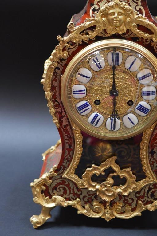 French Boulle Clock In Excellent Condition For Sale In Los Angeles, CA