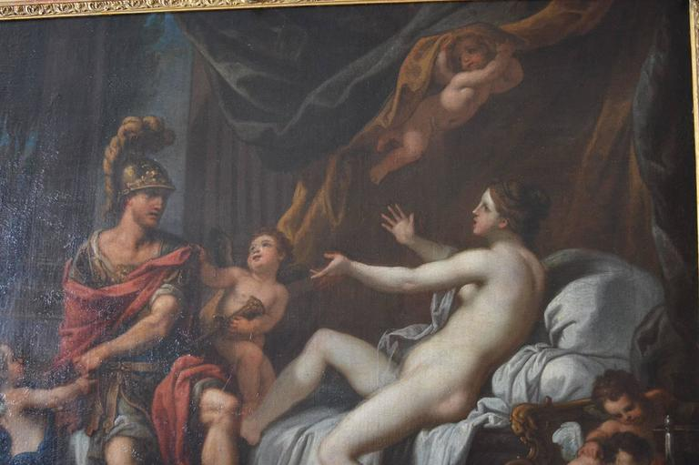 18th Century Italian Painting on Canvas In Good Condition For Sale In Los Angeles, CA