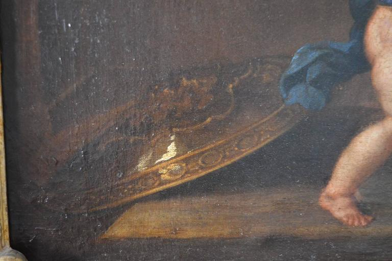 18th Century Italian Painting on Canvas For Sale 1