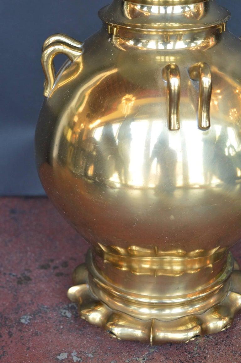 Pair of bronze lamps.