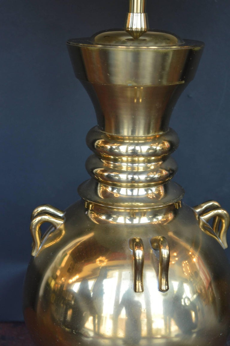 American Pair of Bronze Lamps For Sale