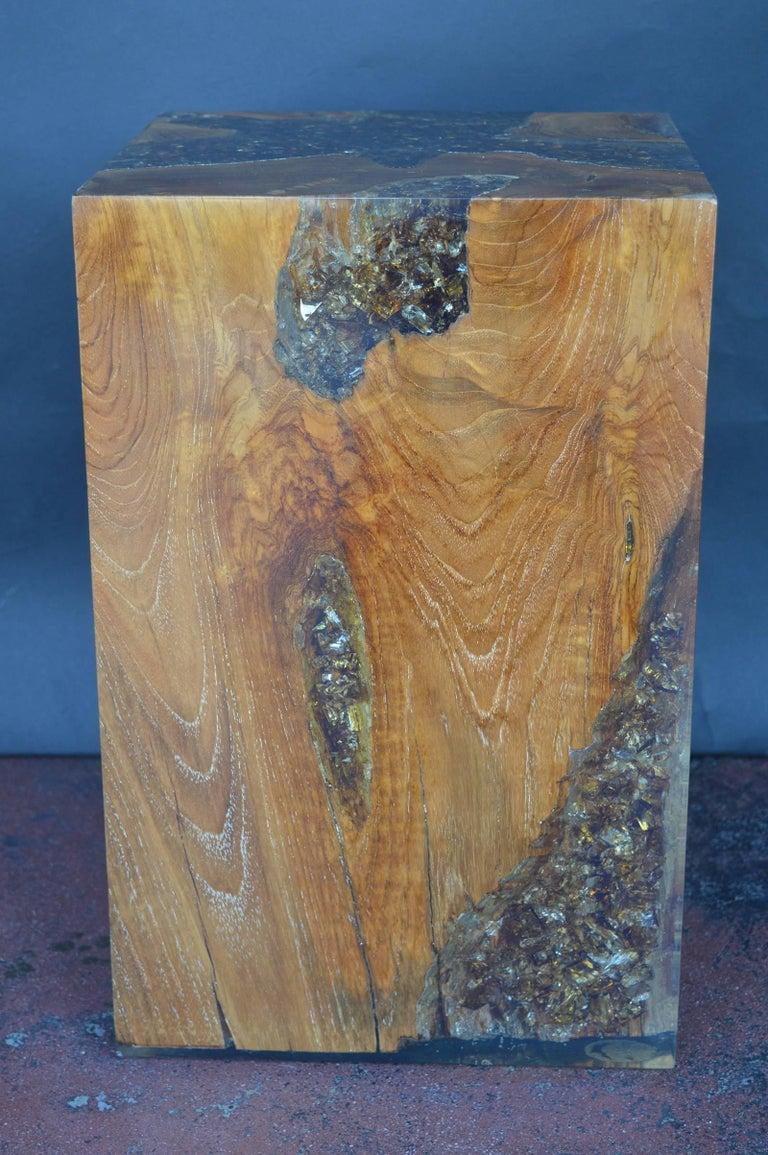 Wood Stool Encased In Resin For Sale At 1stdibs