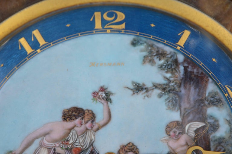 Swiss Art Deco Onyx Clock For Sale