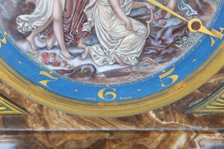 20th Century Art Deco Onyx Clock For Sale