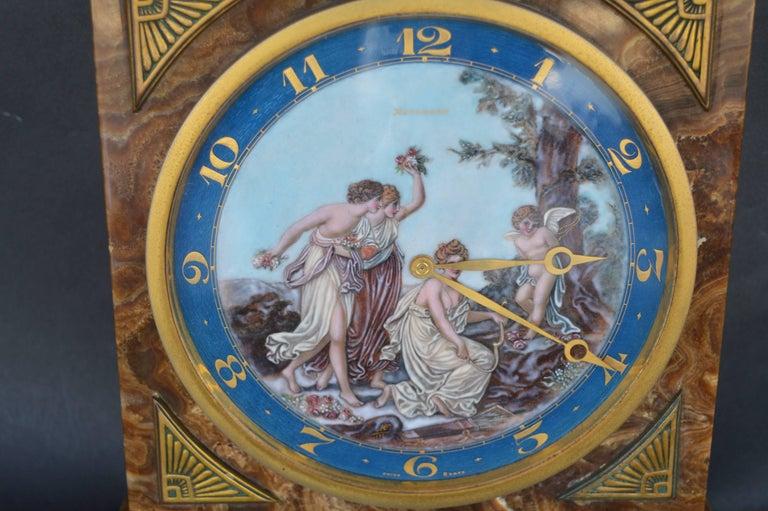Art Deco onyx clock.