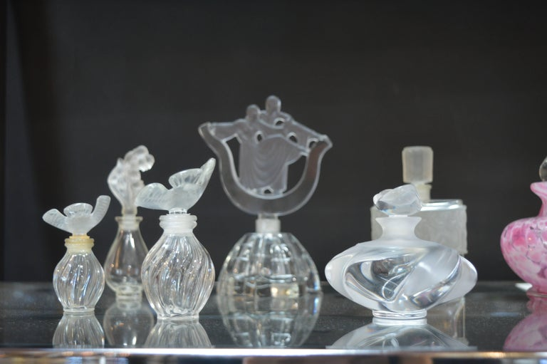 Collection of Glass Perfume Bottles In Excellent Condition For Sale In Los Angeles, CA