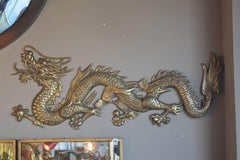 Pair of Opposite Facing Bronze Dragons