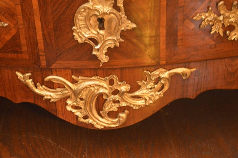 20th Century French Parquetry Commode with Ormolu For Sale