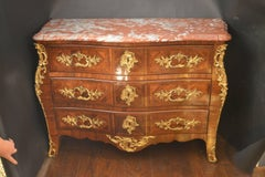French Parquetry Commode with Ormolu