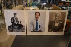 Set of Three Portraits of Comedians