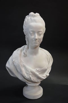 Bisquit Bust of Marie Antionette