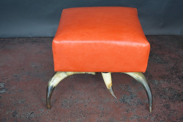 Cow Horn Chair with Ottoman For Sale 2
