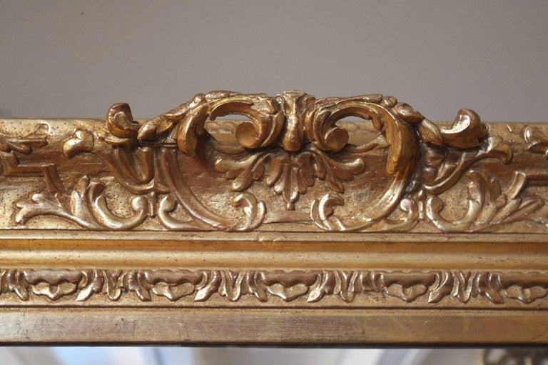 French 18th Century Gilded Mirror For Sale