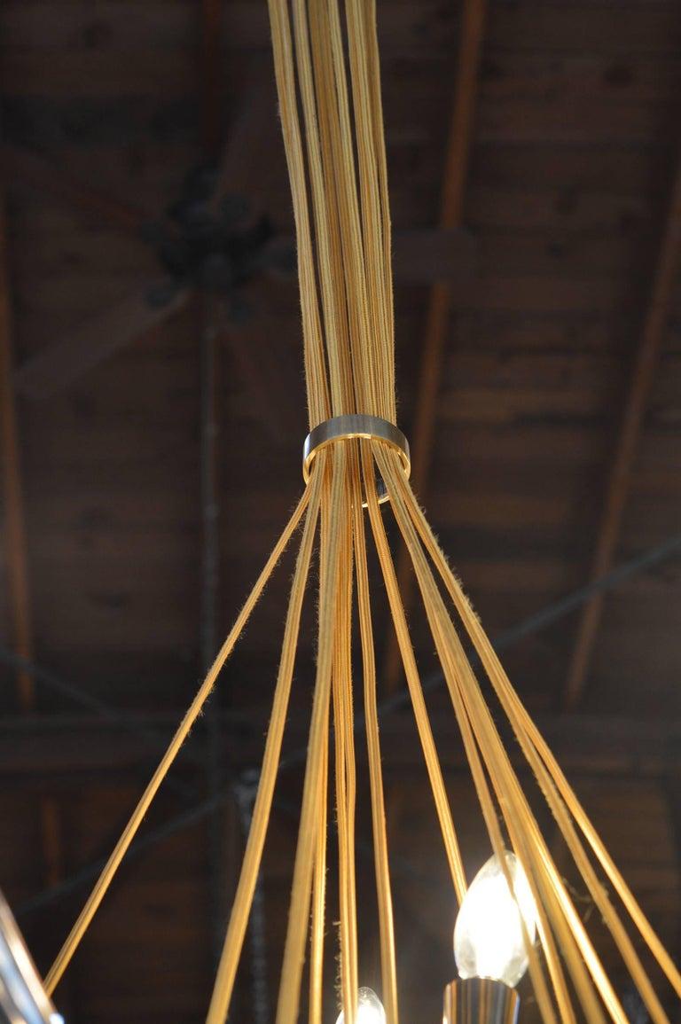 Brass Sputnik Chandelier For Sale 1