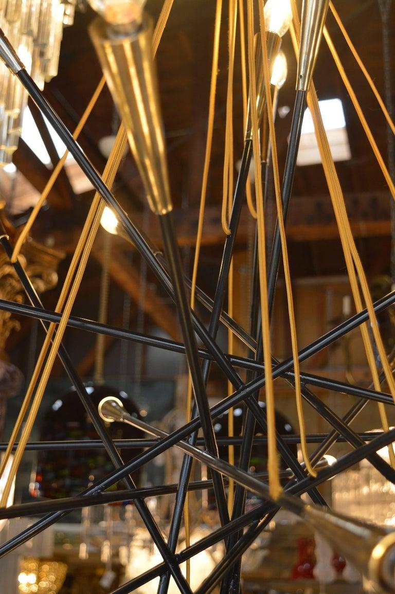 Italian Brass Sputnik Chandelier For Sale