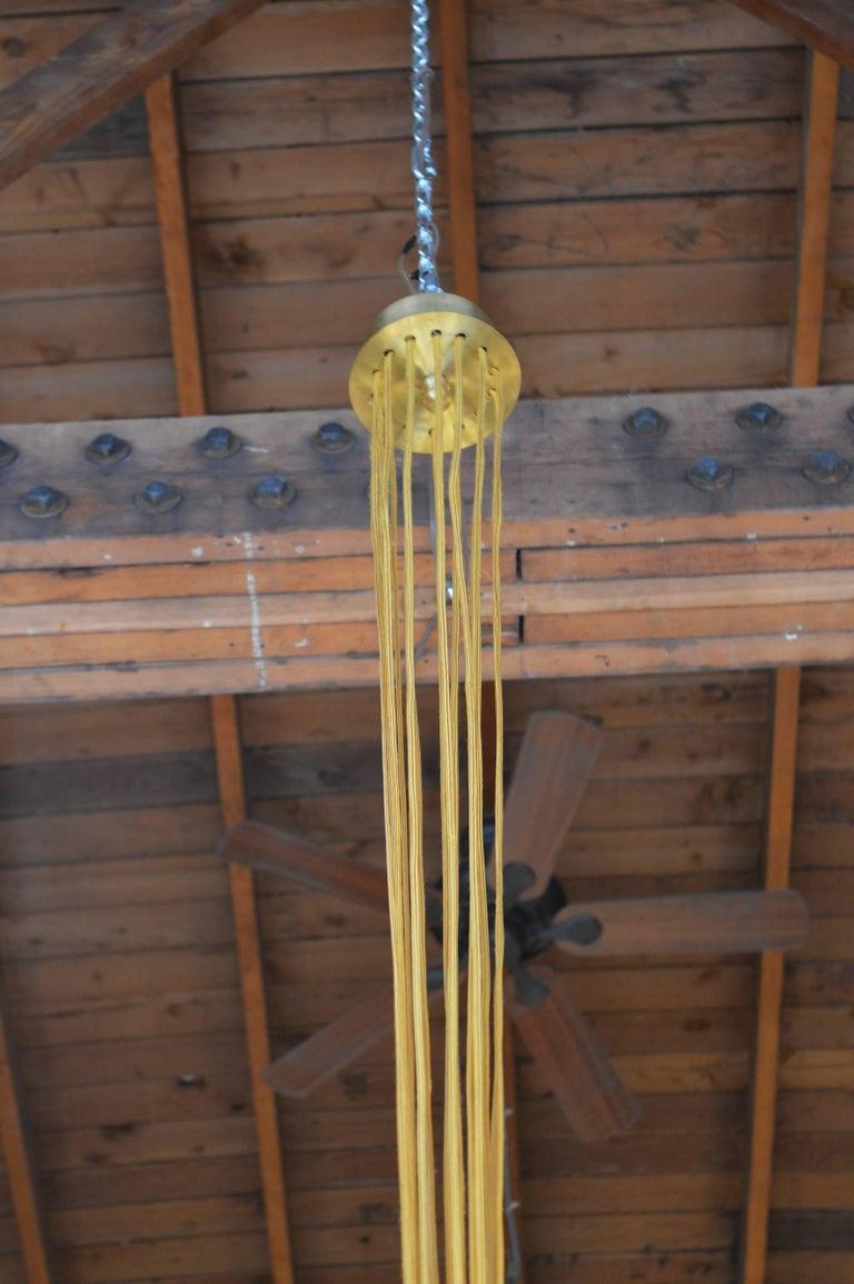 20th Century Brass Sputnik Chandelier For Sale