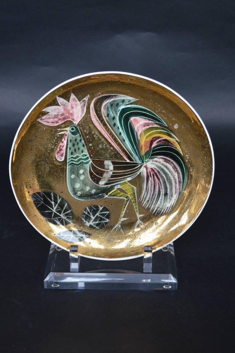 20th Century Set of Four Collectors Plates by Sascha Brastoff For Sale