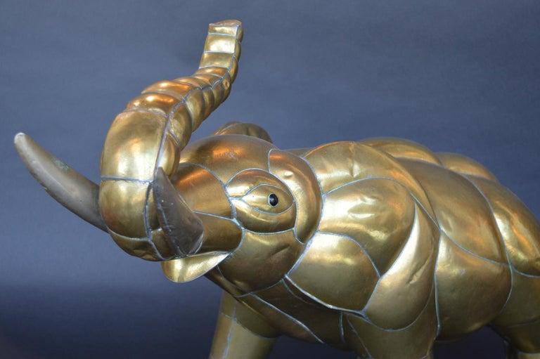 Brass elephant by Sergio Bustamante.