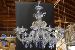 Pair of Murano Chandeliers Handmade in Italy