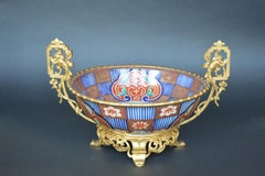 19th C. French Dore Bronze & Imari Porcelain