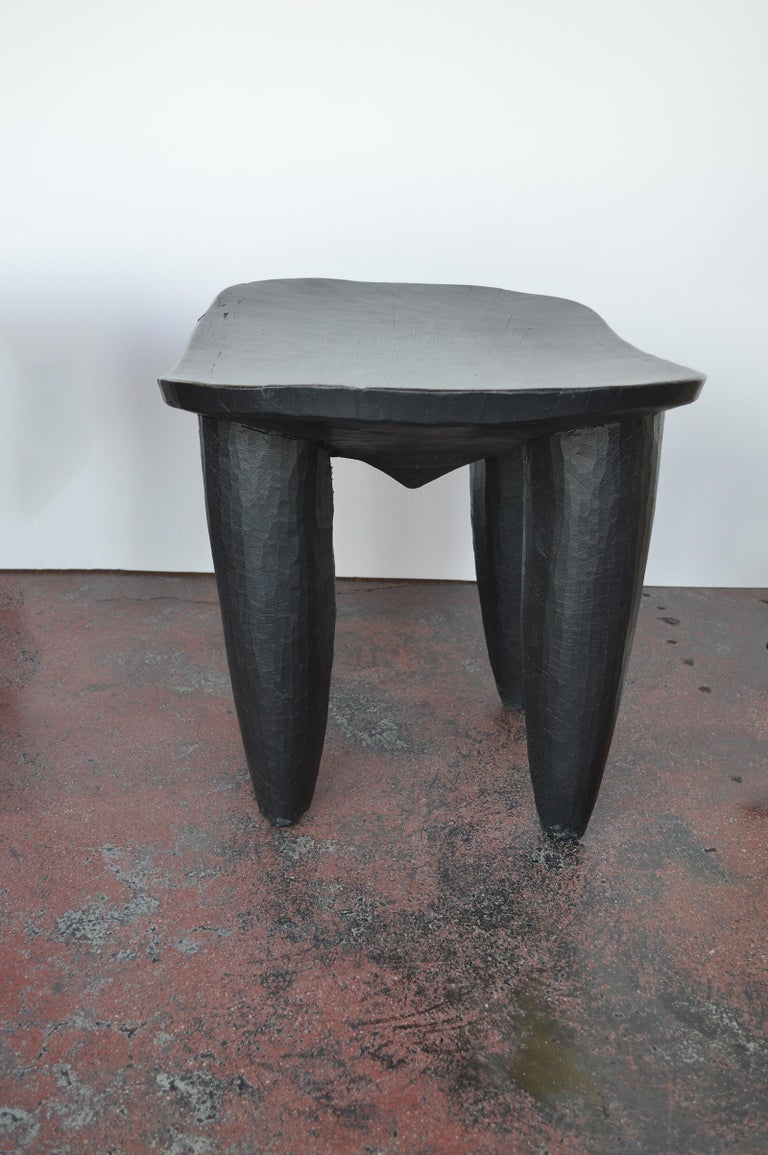 Set of Two african Midcentury Wooden Side Tables In Excellent Condition For Sale In Los Angeles, CA