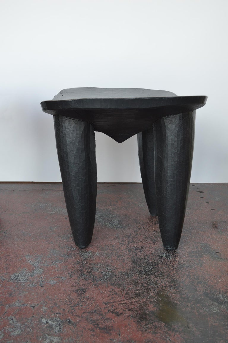 20th Century Set of Two african Midcentury Wooden Side Tables For Sale