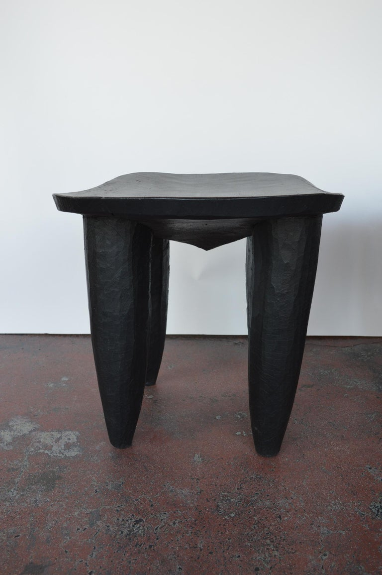 Set of Two african Midcentury Wooden Side Tables For Sale 1