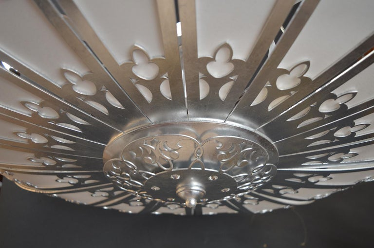 Silverleafed UFO Style Chandelier For Sale 3