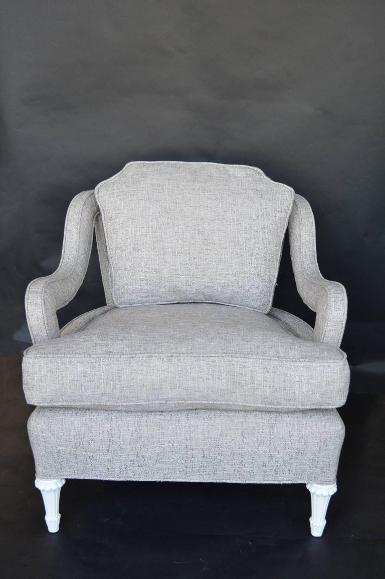 Chairs are newly reupholstered, Hollywood regency.