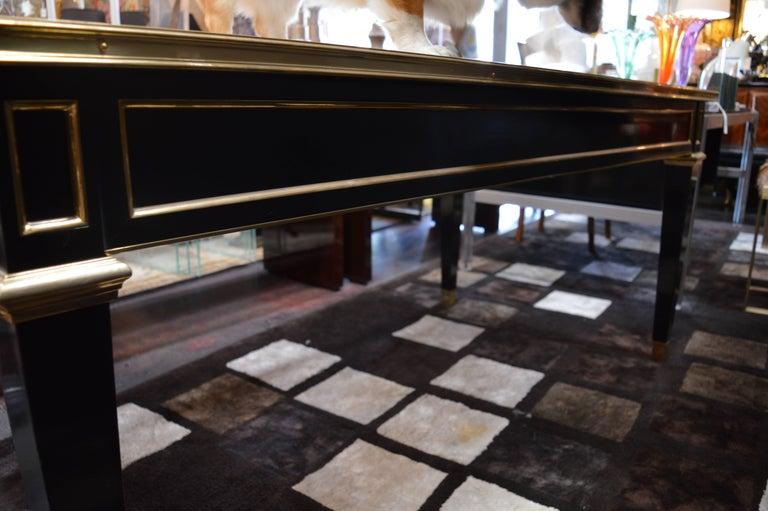 20th Century Maison Jansen Ebonized Desk For Sale