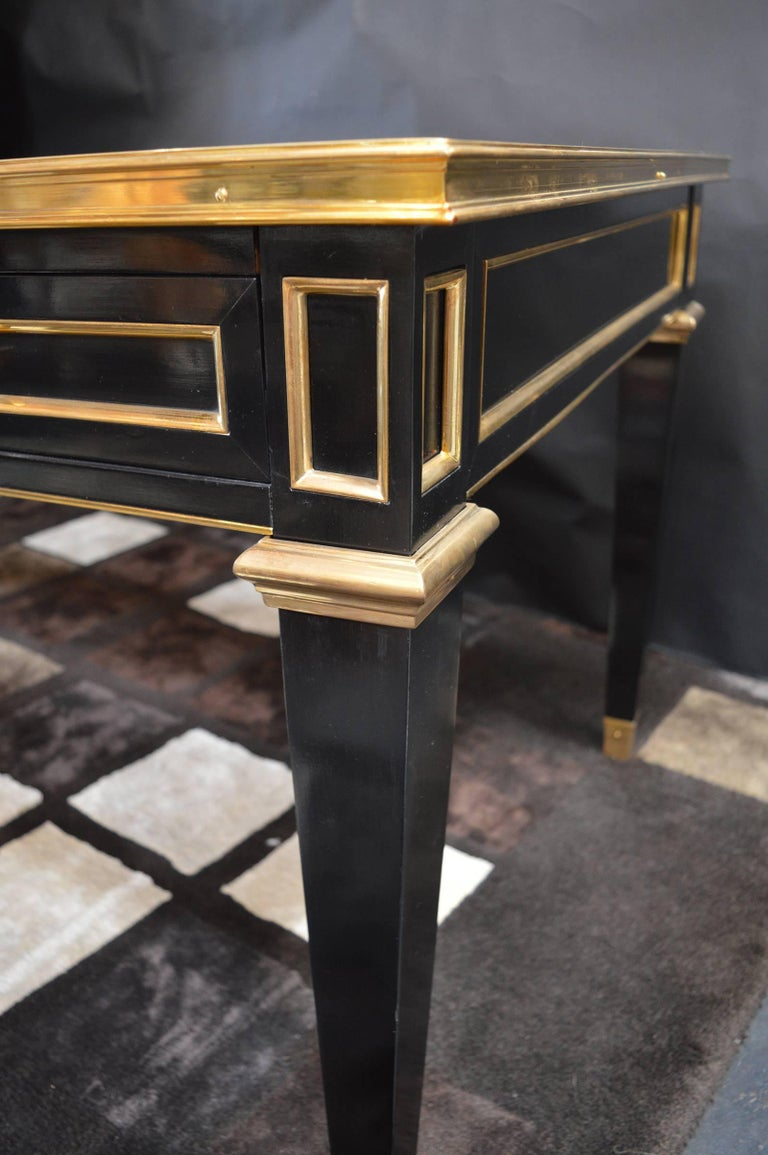 French Maison Jansen Ebonized Desk For Sale