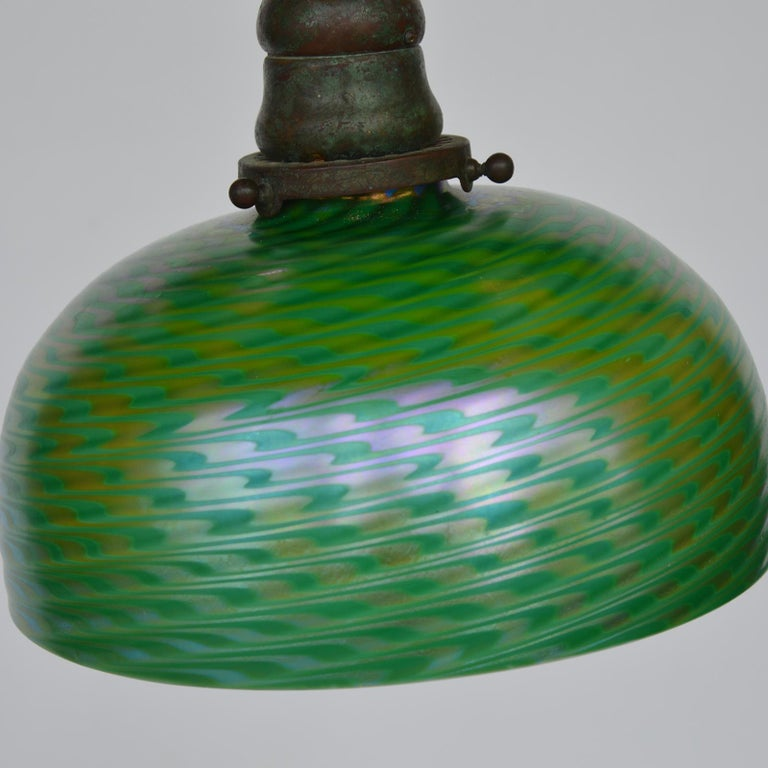 Tiffany Studios & Co Bronze and Glass Shade  For Sale 2