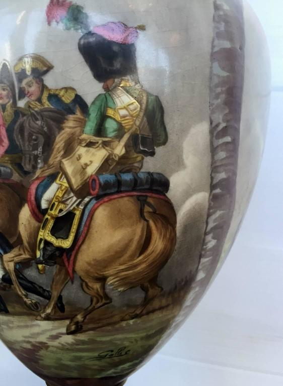 Pair Of 19th Century Napoleonic Sevres Porcelain Vases At