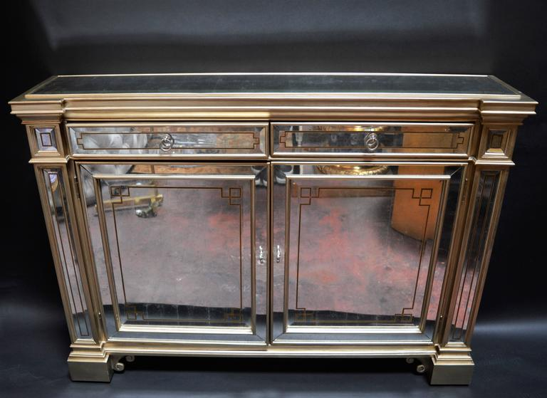 White Gold Mirrored Ferguson Copeland Commode For Sale At 1stdibs