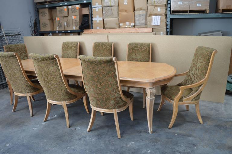 Henredon dining table and chairs.