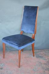 Set of Eight French Art Deco Dining Chairs