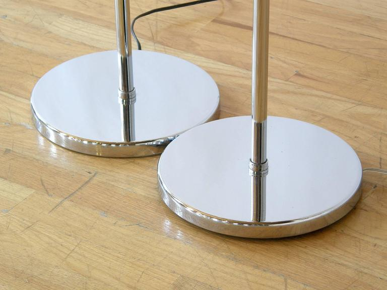 Pair of Koch and Lowy Triple Sphere Floor Lamps 8