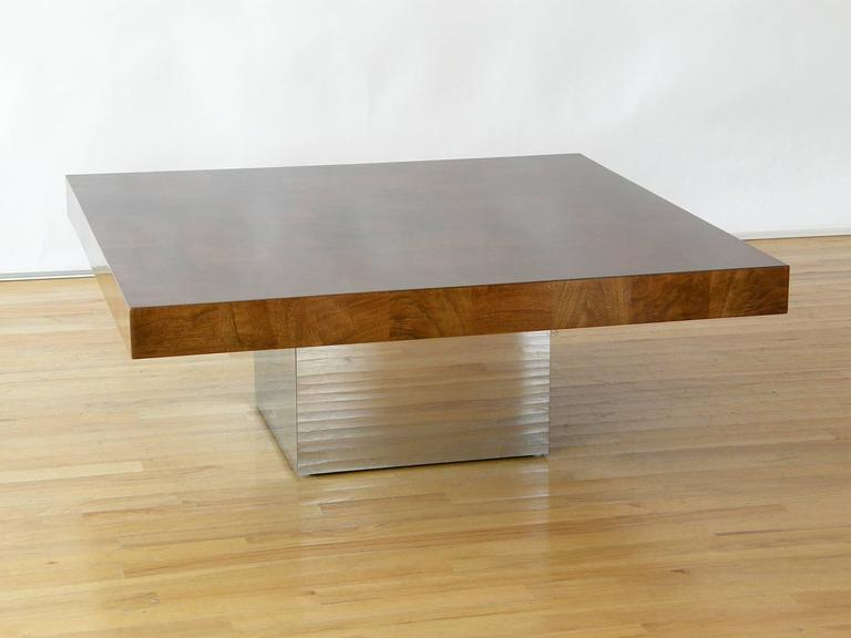 Mid-Century Modern Milo Baughman Square Coffee Table For Sale