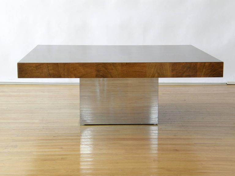 American Milo Baughman Square Coffee Table For Sale