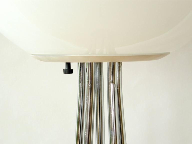 Chrome and Glass Ball Floor Lamp  3